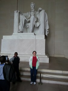 Connie at Lincoln Memorial